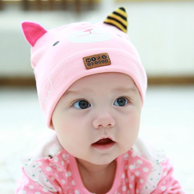 秋天宝宝防感冒,儿童保暖帽子不可少