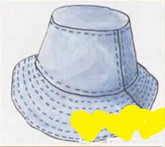怎样用布缝帽子图解