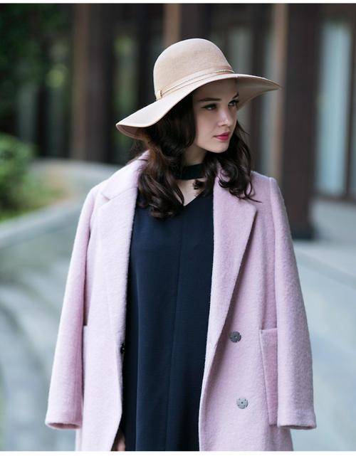 冬季流行保暖帽子毛毡帽